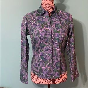 Ann Taylor Funky Button Down Professional Top 6P